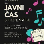 Javni čas studenata glume i muzičke produkcije Akademije umetnosti