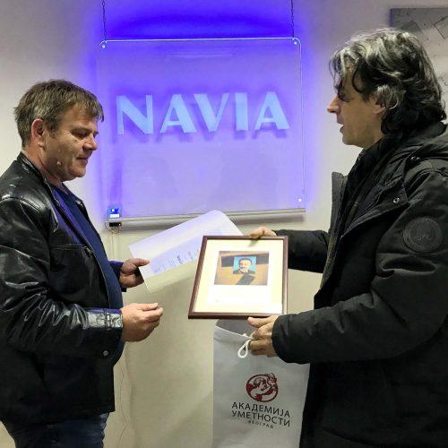 Zahvalnica Akademije umetnosti gospodinu Nebojši Nikoliću