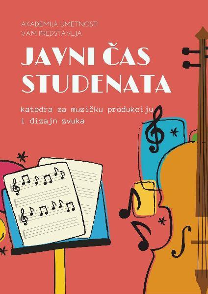 Javni čas studenata I godine katedre za Muzičku produkciju i dizajn zvuka