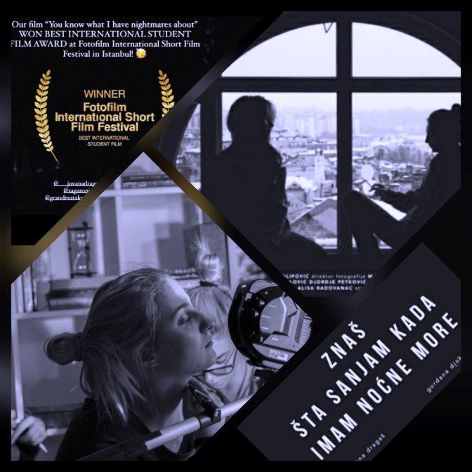 AGLAJI FILIPOVIĆ NAGRADA ZA NAJBOLJI INOSTRANI STUDENTSKI FILM NA FESTIVALU U ISTANBULU