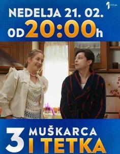 """DIPL. GLUMICE AKADEMIJE U NOVOJ SERIJI """"TRI MUŠKARCA I TETKA"""" NA TV PRVA"""