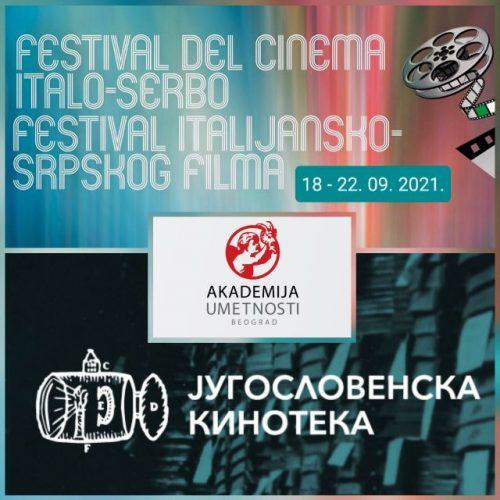 FESTIVAL ITALIJANSKO-SRPSKOG FILMA OD 18.- 22. SEPTEMBRA 2021.